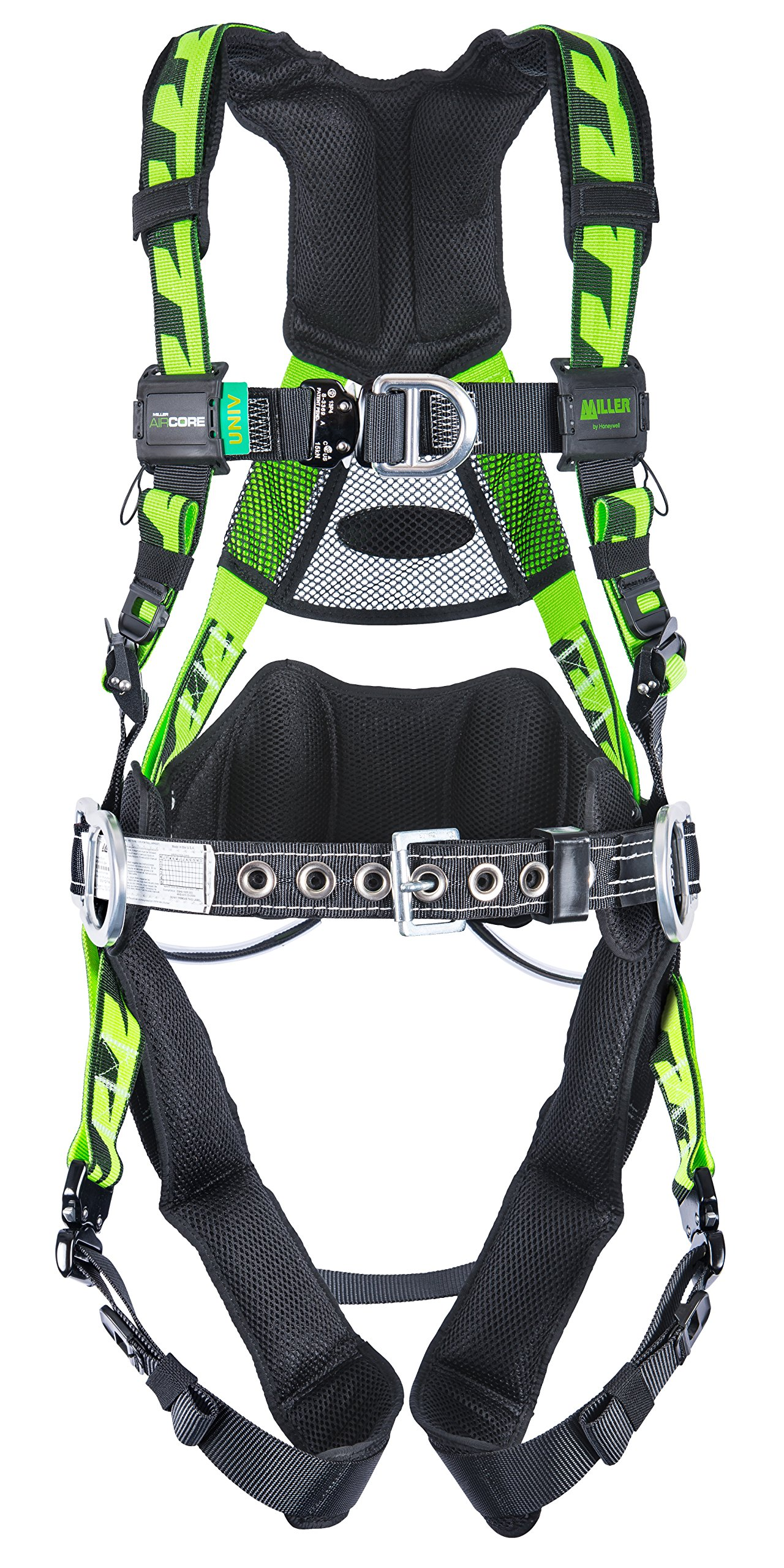Miller by Honeywell AAT-QCSMG Aircore Tower Climbing Harness with Aluminum Hardware by Honeywell