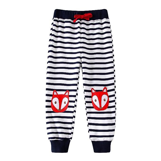 Amazon.com: Boys pantalones algodón de impresión de dibujos ...