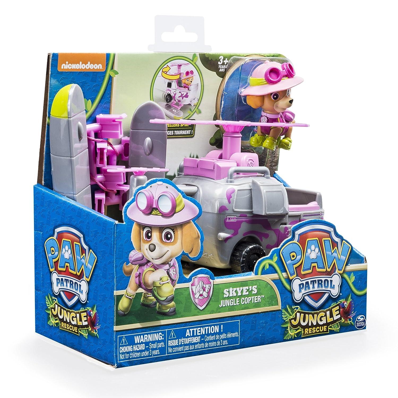 Figurine Et V/éhicule De La Patpatrouille Dans La Jungle Spin Master Toys UK Ltd 20079017-6033376 Paw Patrol Jungle Rescue Stella Et H/élicopt/ère