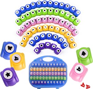 Shape Paper Punch Set   School Scrapbooking Paper Punchers for Arts and Crafts   Hole Punch Shapes That Kids and Adults Adore   Premium Crafting Supplies Kit Includes 60 Paper Puncher Shapes