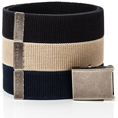 Amazon.com  Columbia Men s Military-Style Web Belt (3 Pack) 6dd03a08e22