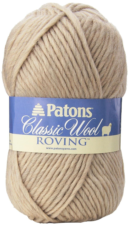 Patons Classic Wool Roving Yarn, Natural