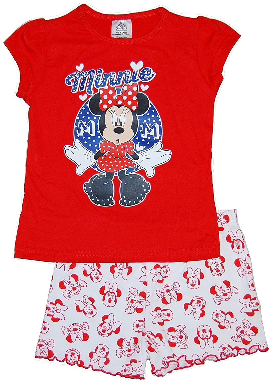 4/Jahre Disney New Kids M/ädchen Kinder Offizielles Minnie Mouse Micky Maus Clubhouse kurzer Pyjama PJ Set-Gr/ö/ße 1
