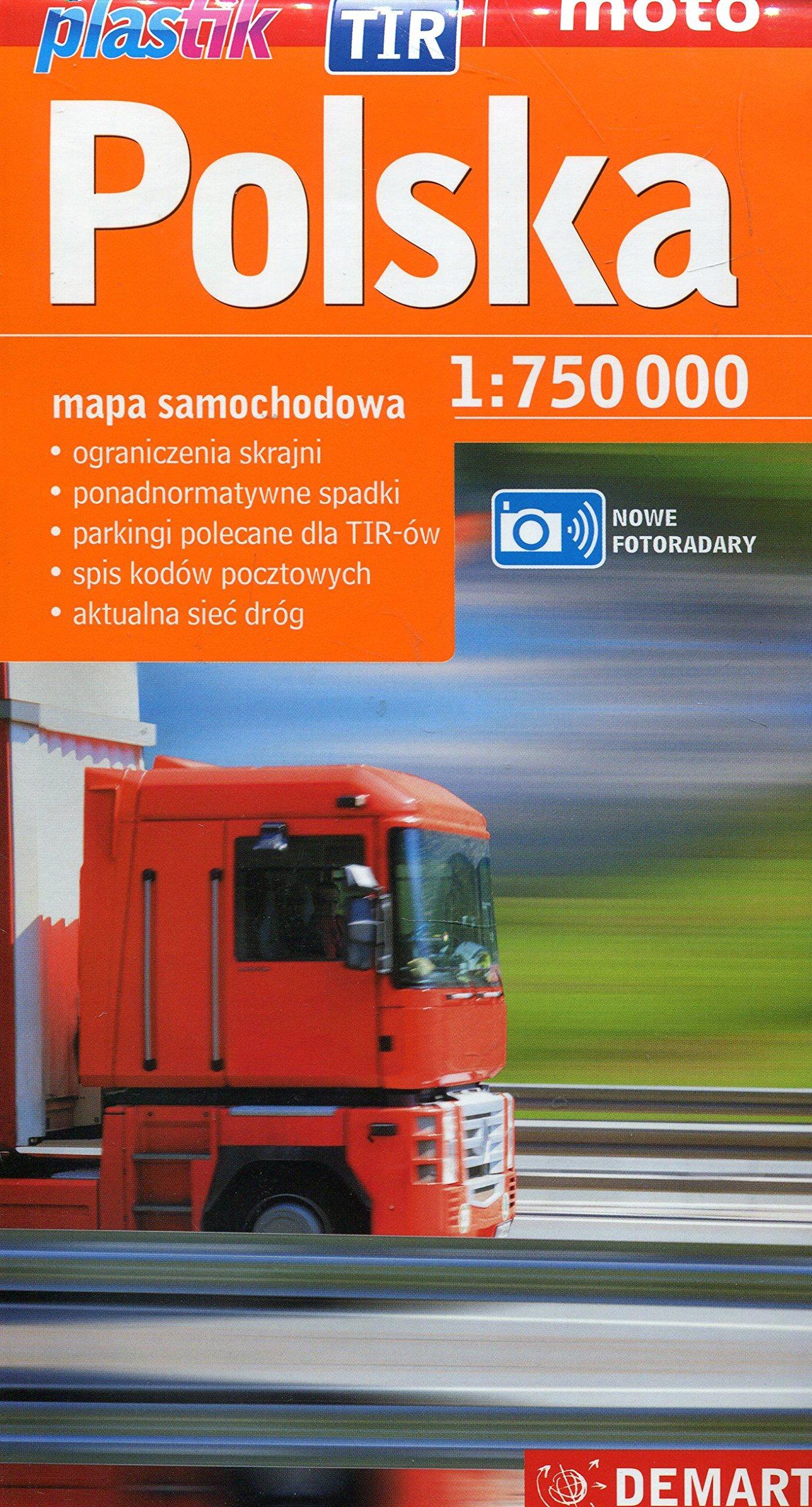Polska mapa samochodowa 1:750 000