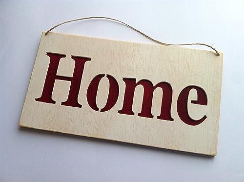 Home cartel letrero de madera Personalizado: Amazon.es: Handmade