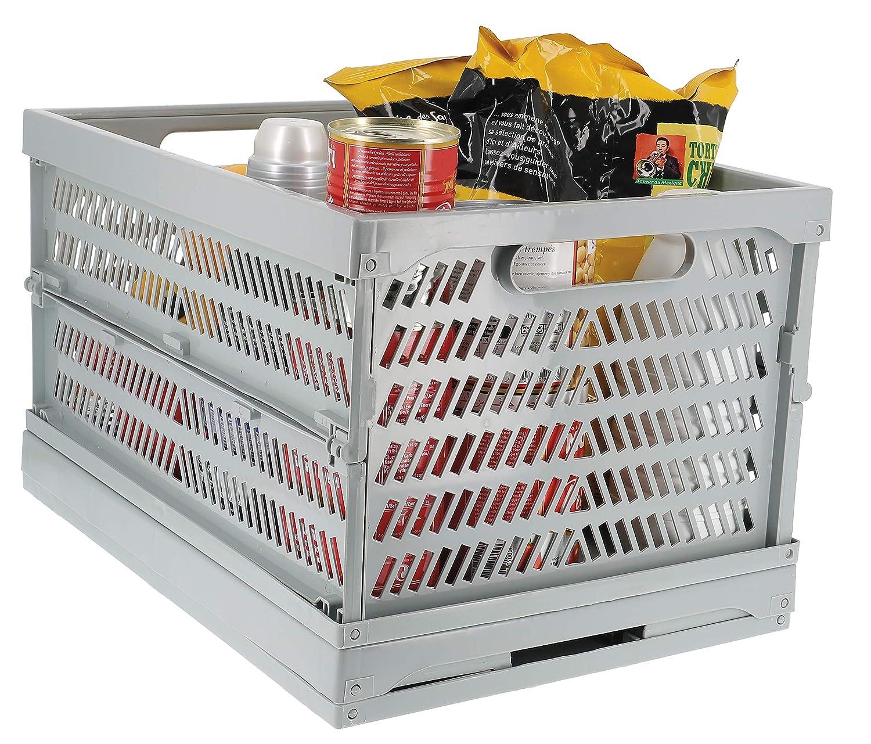 cb12fb69b00a Compactor RAN8877 Panier Pliable Gris, Plastique, 34,5 x 49 x 25,7cm   Amazon.fr  Cuisine   Maison