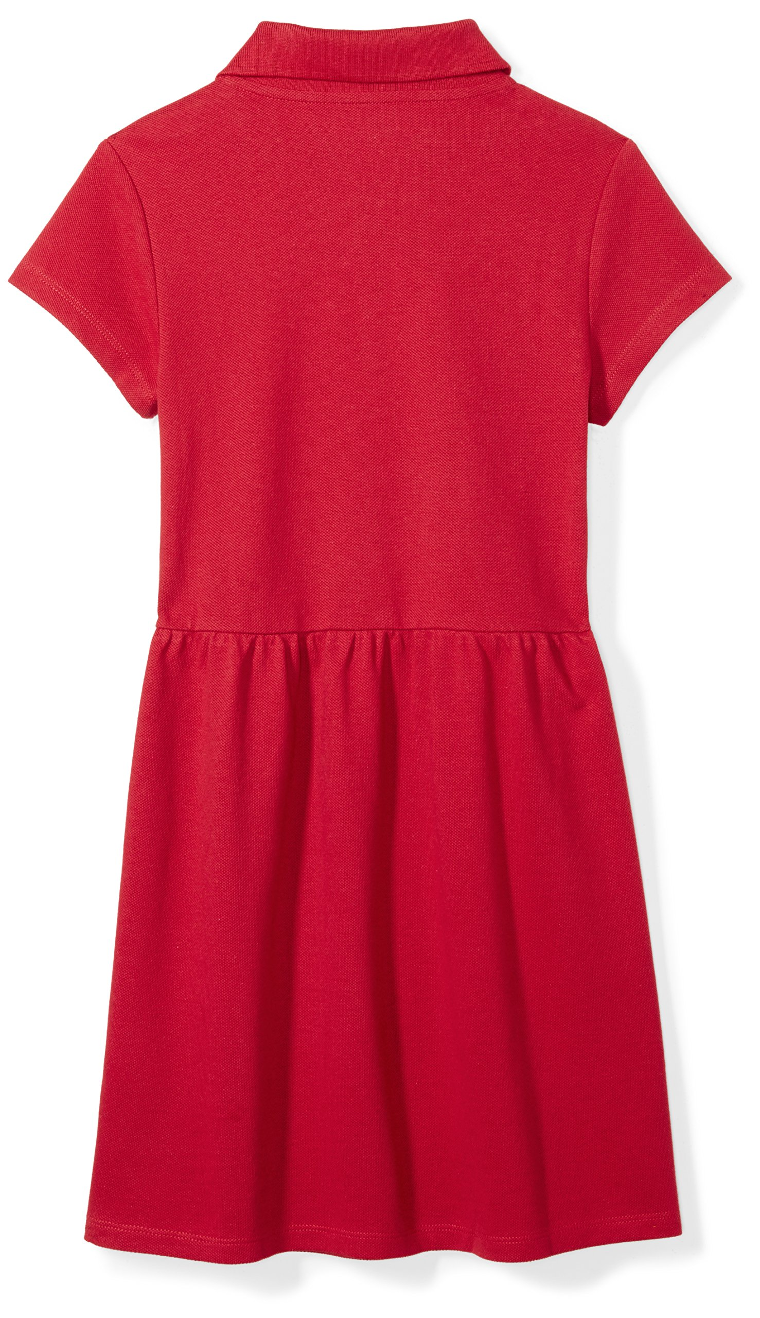 Amazon Essentials Girls' Short-Sleeve Polo Dress, Scooter Red, L (10) by Amazon Essentials (Image #2)