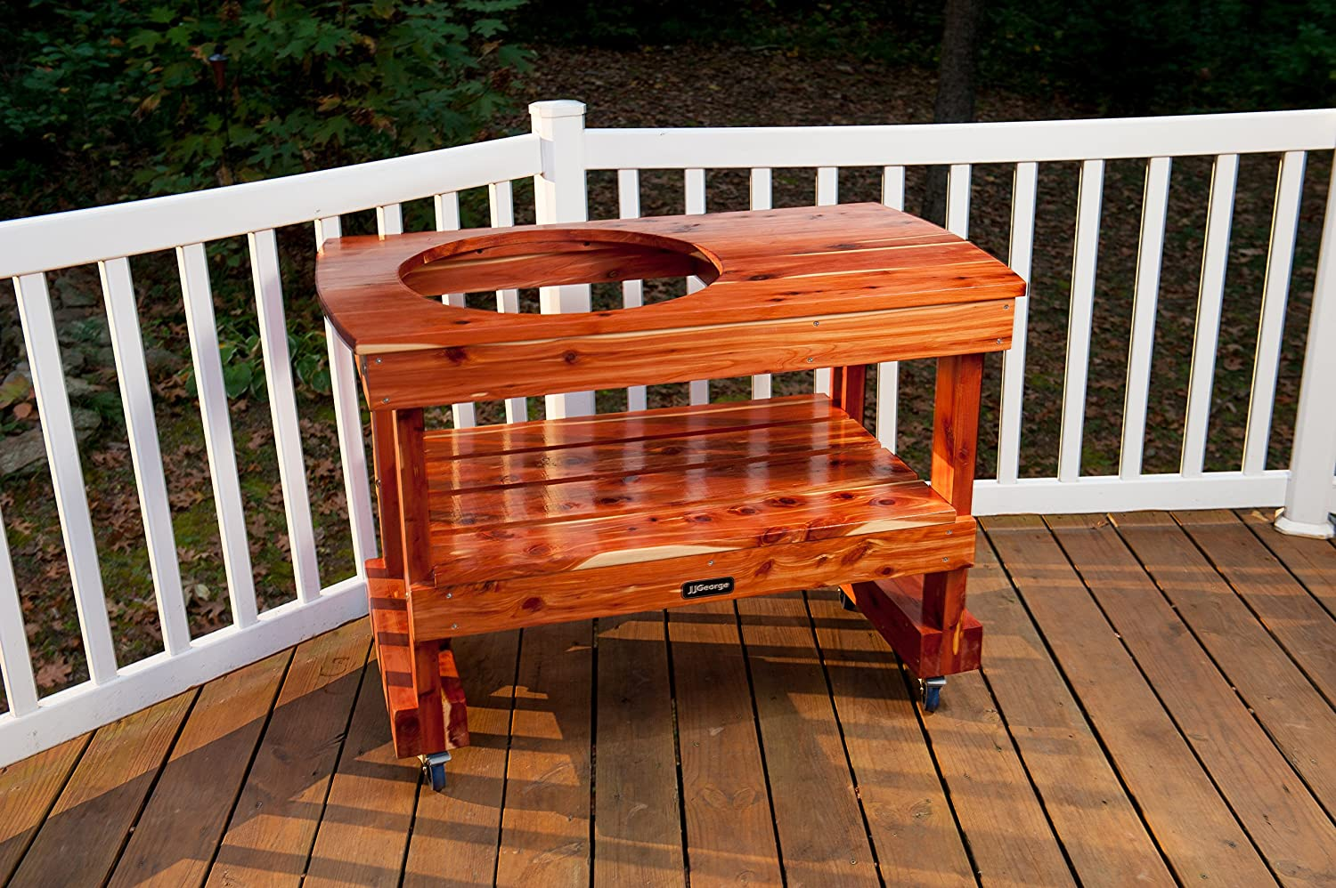 Amazon.com : JJGeorge Big Green Egg Table (Compact Table for Large ...