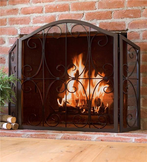 Crest Tri-Fold Fire Screen | Fireplace Screens