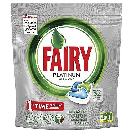 Fairy Platinum Cápsulas para Lavavajillas - Pack de 32 unidades