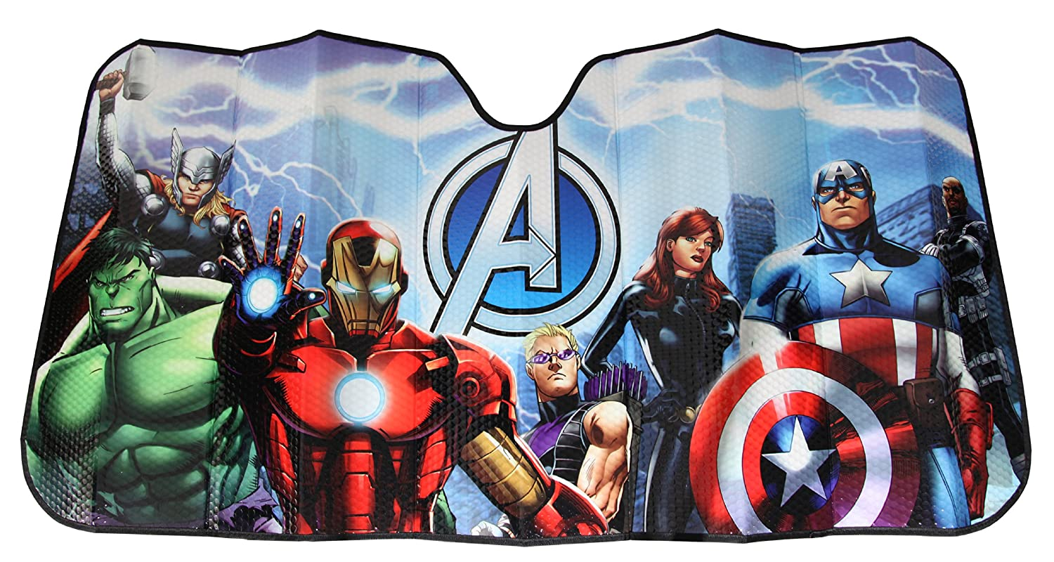 Amazon.com  Plasticolor 003695R01 Marvel  Avengers  Accordion-Style  Windshield Sunshade  Automotive acacca97535