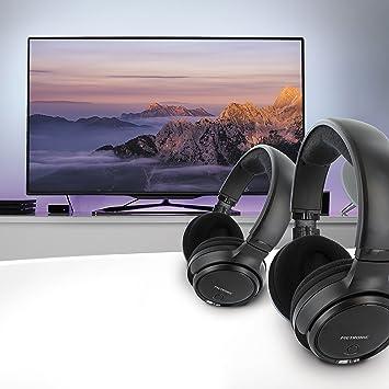 Metronic 480182 Casques Tv Duo Stéréo Sans Fil Noir Amazonfr