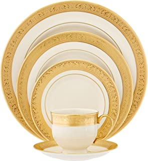 Lenox Westchester Gold-Banded 5-Piece Place Setting Service for 1  sc 1 st  Amazon.com & Amazon.com: Lenox Republic Gold-Banded 5-Piece Place Setting ...