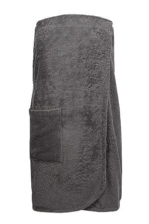 ZOLLNER Toalla Sauna para Mujer, marrón, algodón, L/XL, Otras Tallas