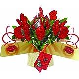 Second Nature - Biglietto di auguri pop-up, motivo: mazzo di rose, amore [lingua inglese]