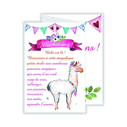 afie 69 - 3929 tarjeta 3 Volets felicitación para nacimiento de ...