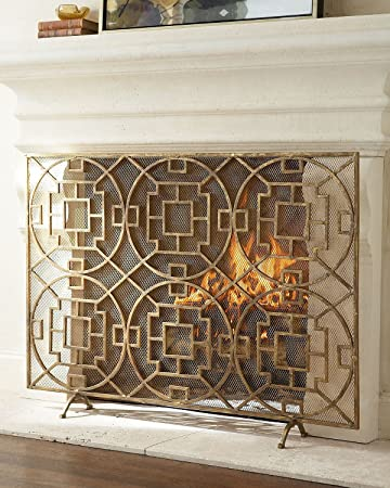 Amazon Pyra Geometric Fireplace Screen Single Panel Protective