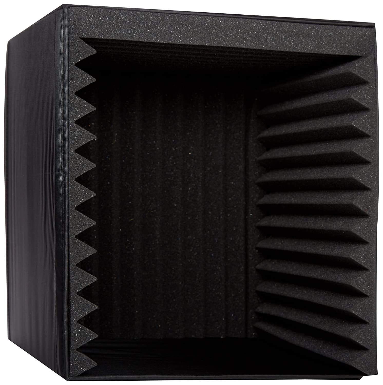 Pyle PSIB27 Sound Recording Booth Box, Studio Soundproofing Foam Shield Isolation Filter Cube Sound Around