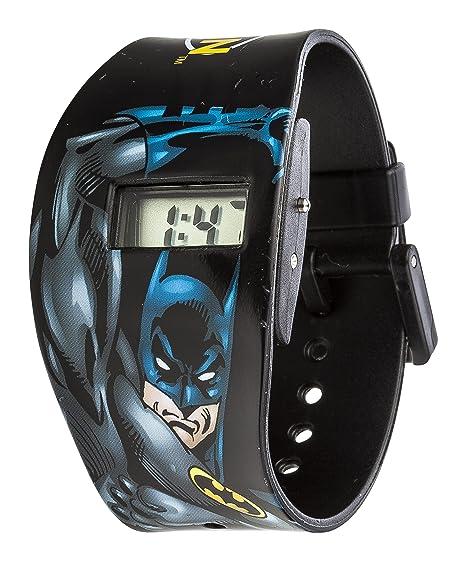Batman Boy s Digital Reloj de Mujer con Esfera Negra Pantalla Digital y Correa de