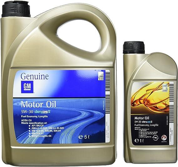 Opel 1942000 1942003 Gm Motoröl 5w 30 Dexos2 6 Liter 5 Liter 1 Liter Auto