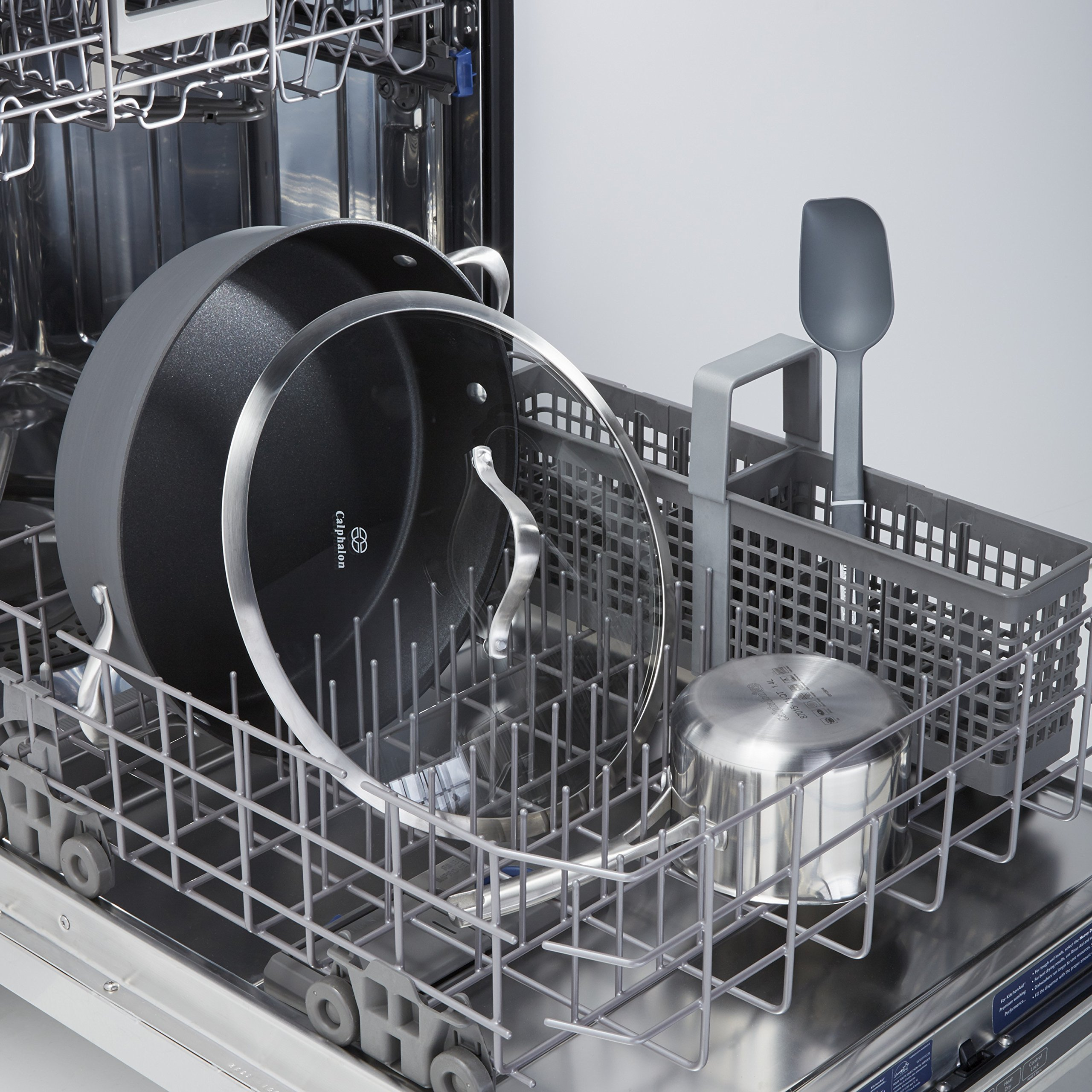 Calphalon Contemporary Hard-Anodized Aluminum Nonstick Cookware, Sauteuse Pan, 7-quart, Black by Calphalon (Image #3)