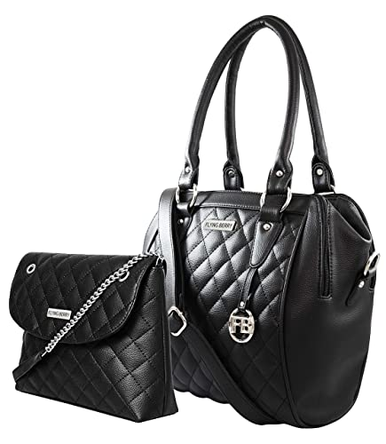 Flying Berry Women s Faux Leather Hand Bag Combo - Black (Fb 02256 Combo) 463528a387