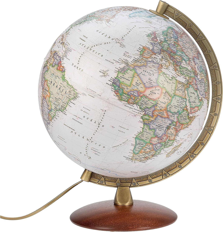Globo terráqueo Iluminado National Geographic Executiv, 30cm. Idioma Español