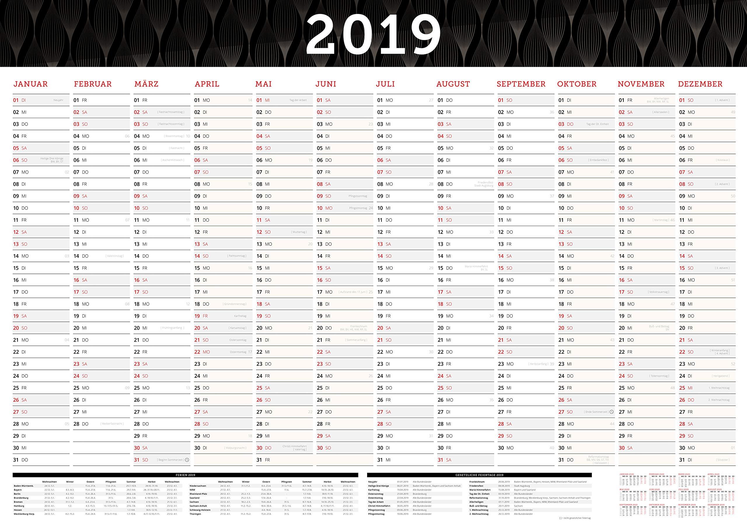 Grosser Wandkalender 2019 In Din A1 84 X 59 4 Cm Gefalzt Furs Buro