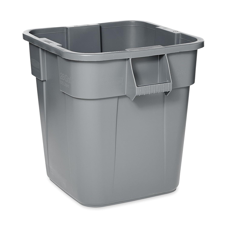 capacidad de 106 l Cubo de basura cuadrado Rubbermaid Commercial Products Brute FG352600 amarillo