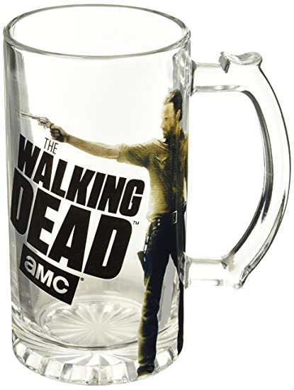 Just Funky Walking Dead Rick, Jarra de Cerveza, 16oz