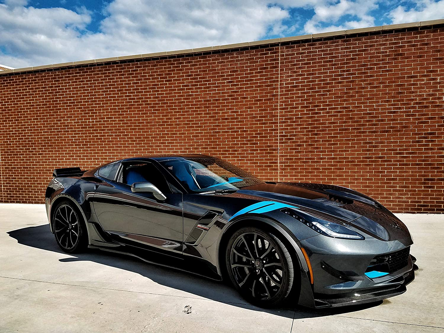 Performance Corvettes Corvette C7 Z06 Grand Sport Rocker Panels Side Skirts Custom Painted Carbon Flash Metallic ABS Plastic
