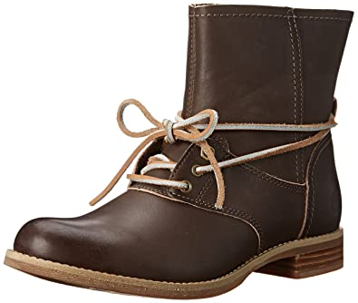 Timberland Women's Savin Hill Lace Ankle Motorcycle Boot, Green,