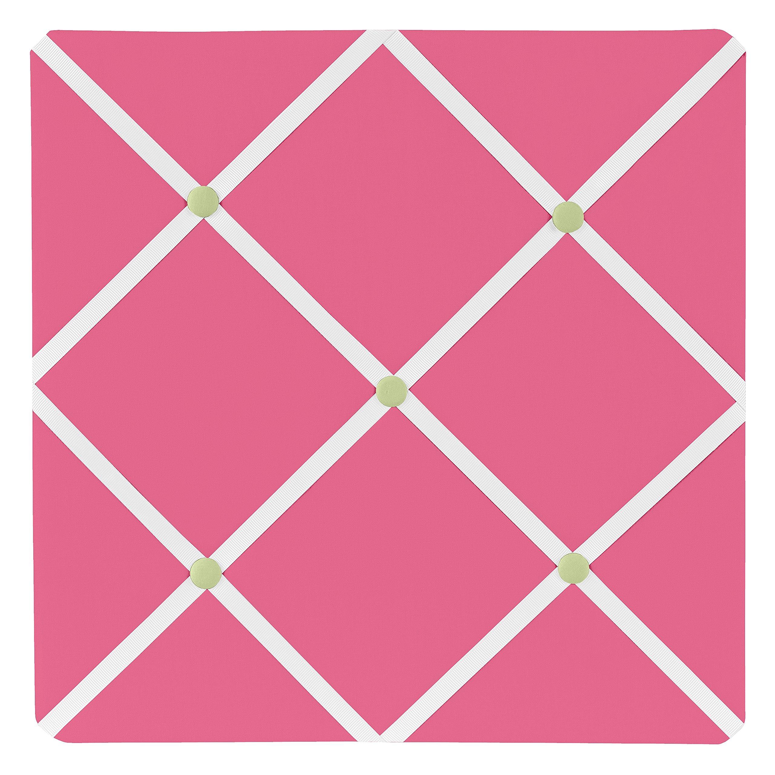 Sweet Jojo Designs Pink and Green Flower Fabric Memory/Memo Photo Bulletin Board by Sweet Jojo Designs