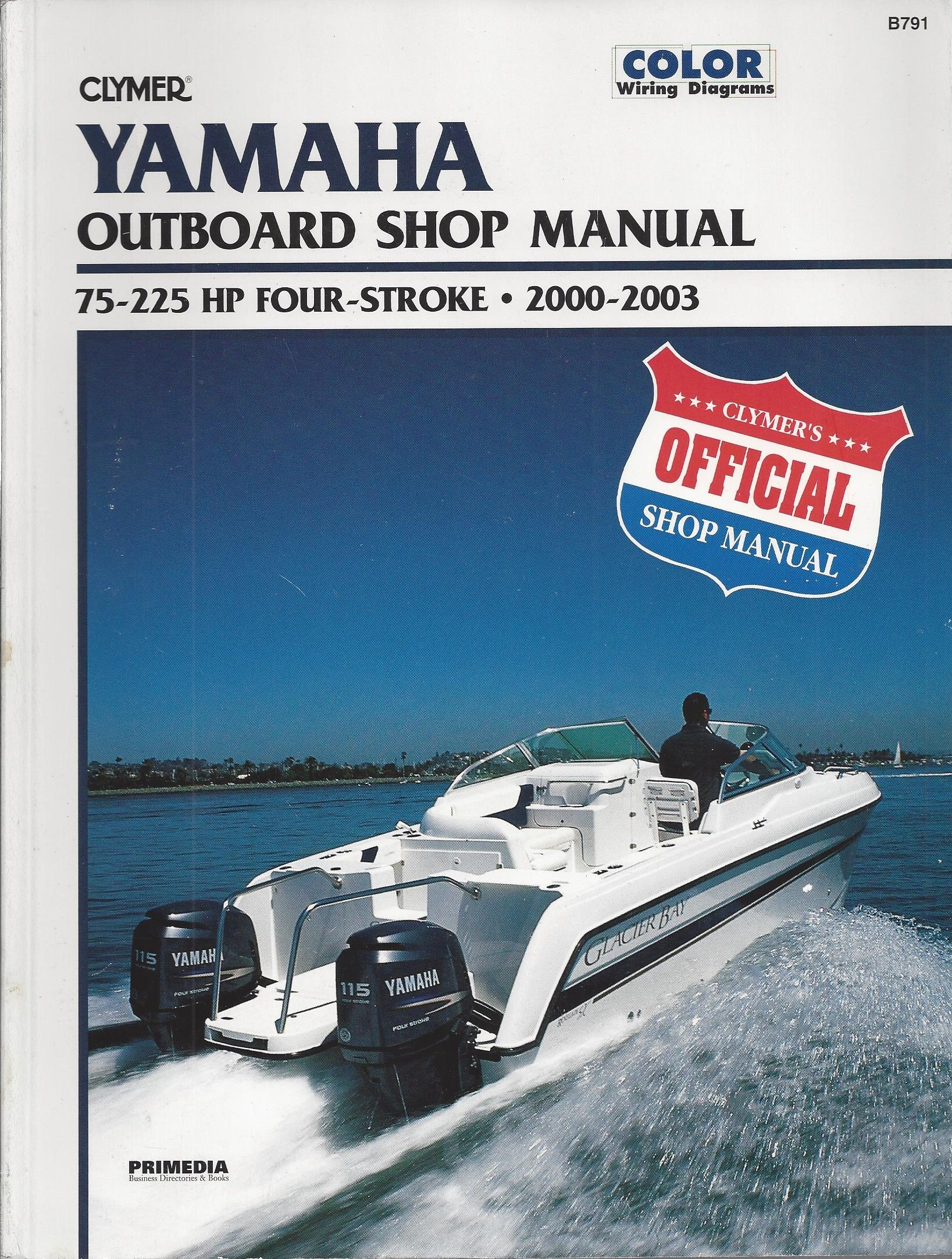 Yamaha: Outboard Shop Manual 75-225 HP Four-Stroke 2000-2003 (Clymer Marine  Repair): Mark Rolling: 9780892878956: Amazon.com: Books