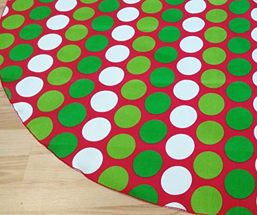 Dot Red & Green Holiday Tree Skirt - FREE Shipping Made in the USA
