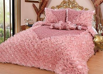 couvre lit satin de luxe Dematex couvre lit boutis/couvre lit de luxe gelincik cm rose  couvre lit satin de luxe