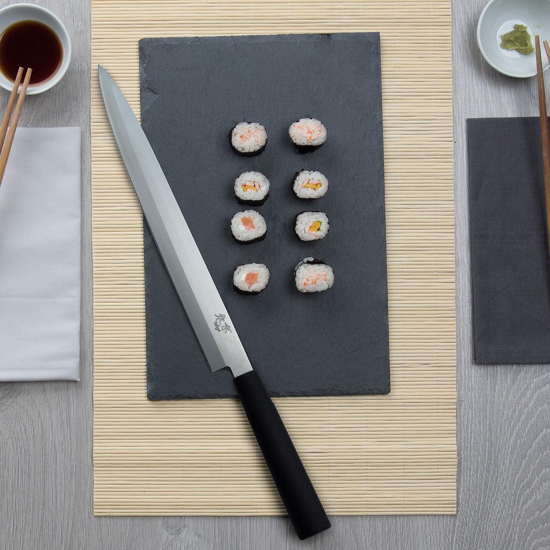 3 Claveles Yanagiba Tokyo - Cuchillo para zurdos, 30 cm