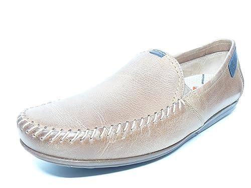 Zapato casual hombre FLUCHOS tipo mocasin, elasticos laterales en piel color piedra - 8323 -63: Amazon.es: Zapatos y complementos