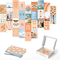 Haus and Hues Peach Photo Collage Kit for Wall Aesthetic - Set of 30 Collage Wall Kit Aesthetic Pictures for Wall…