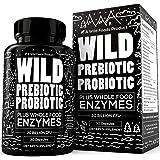 Wild Foods Prebiotics and Probiotics- Breakthrough Digestive Enzymes Supplement for Women & Men - Supports Gut Health & Diges
