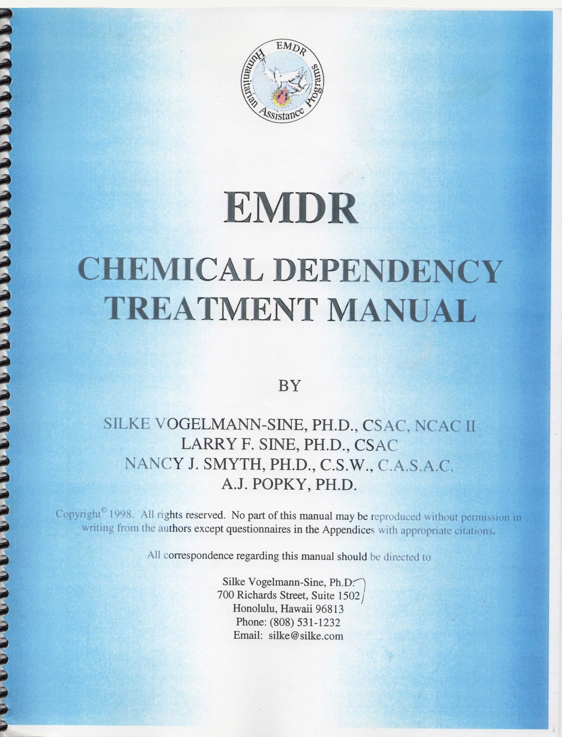 Emdr Chemical Dependency Treatment Manual Silke Vogelmann Sine