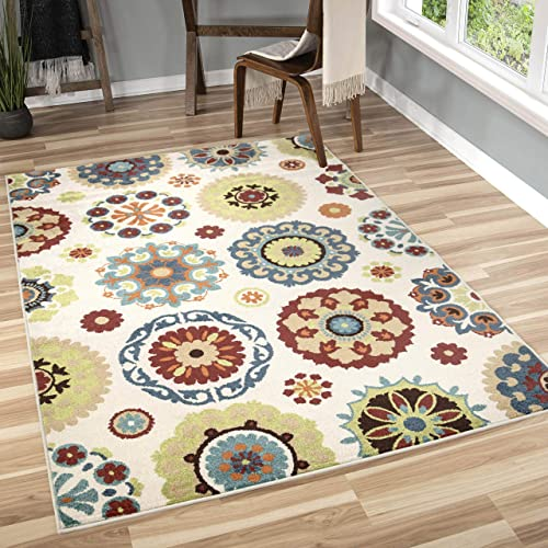 Orian Rugs 2302 Veranda Hubbard Multicolor Area Rug, 5.16 x 7.5 ft.