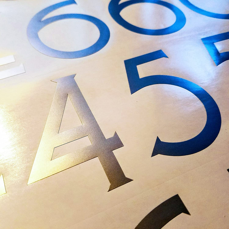 2 inch Matte White Craftsman Style Die Cut Vinyl Numbers