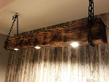Holzlampe design led vintage 150 bis 200 cm 5 lampen : amazon.de