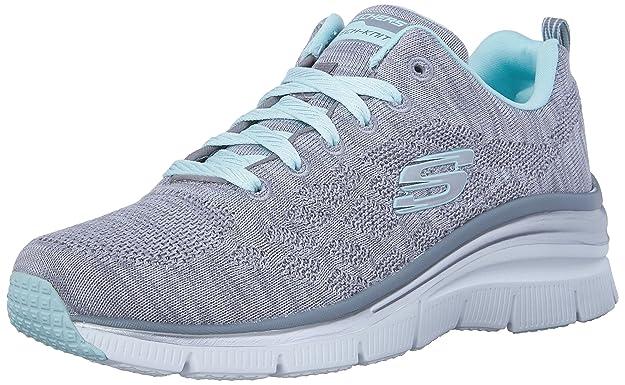 Skechers SKEES - Fashion Fit-Statement Piece - Baskets Sportives, Femme, Bleu (nvhp), Taille 36