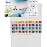 White Nights Watercolour White Night Artists Watercolour Set 36 Whole Pans, Plastic Box