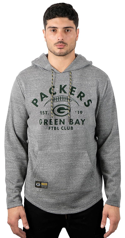 19fb1cd4 Ultra Game NFL Green Bay Packers Men's Fleece Hoodie Pullover Sweatshirt  Vintage Logo, Gray, Medium