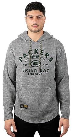 best service cf60c 91d89 Ultra Game NFL Green Bay Packers Men's Fleece Hoodie Pullover Sweatshirt  Vintage Logo, Gray, Medium