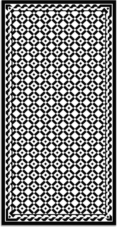Alfombras Grandes Alfombra Sal/ón Antideslizante Alfombras PVC Panorama Alfombra Vin/ílica Geometr/ía Amarillo 40x80cm Antihongos e Ign/ífuga Alfombra Cocina Vinilo
