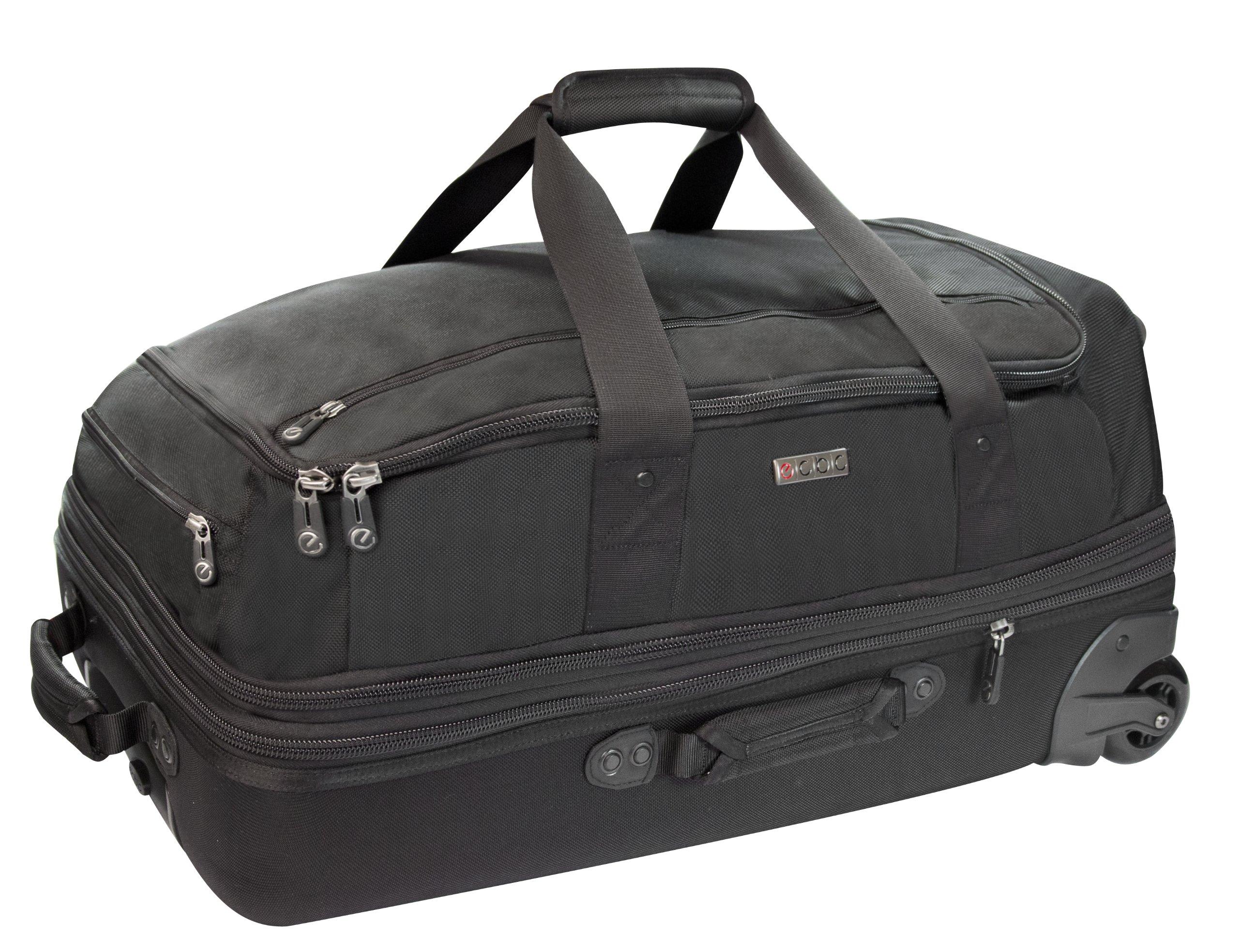 ECBC Falcon Wheeled Rolling 26-Inch Duffle Bag, Black by ECBC